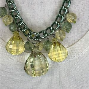 Adia Kibur Necklace Clear & Yellow Beads